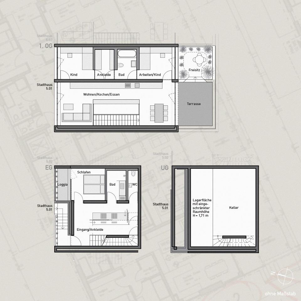 Haus grundrisse beispiele durch das haus finesse doppelhaus mit doppeldach doppelhaus - Moderne grundrisse wohnungen beispiele ...